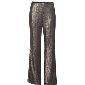 Nanette lepore gun metal pasha sequins pants